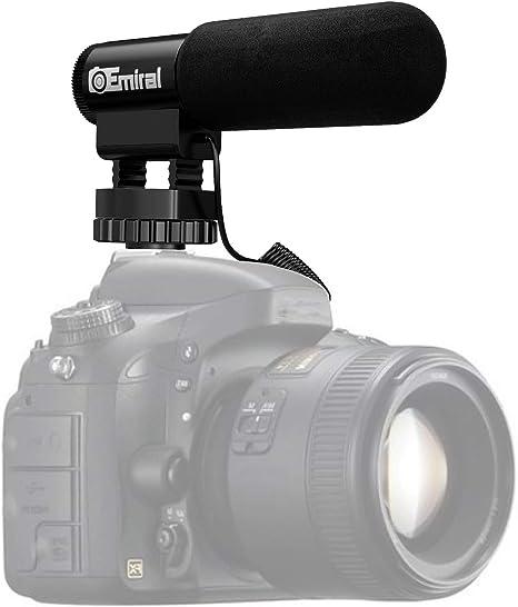 Micrófono de cámara, micrófono de entrevista Emiral, micrófono de ...