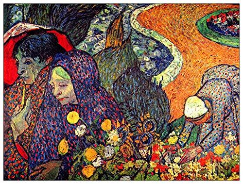ArtPlaza TW91350 Van Gogh Vincent-Walk in Arles (Memory of The Garden of Eden) Decorative Panel, 35.5x27.5 Inch, Multicolored