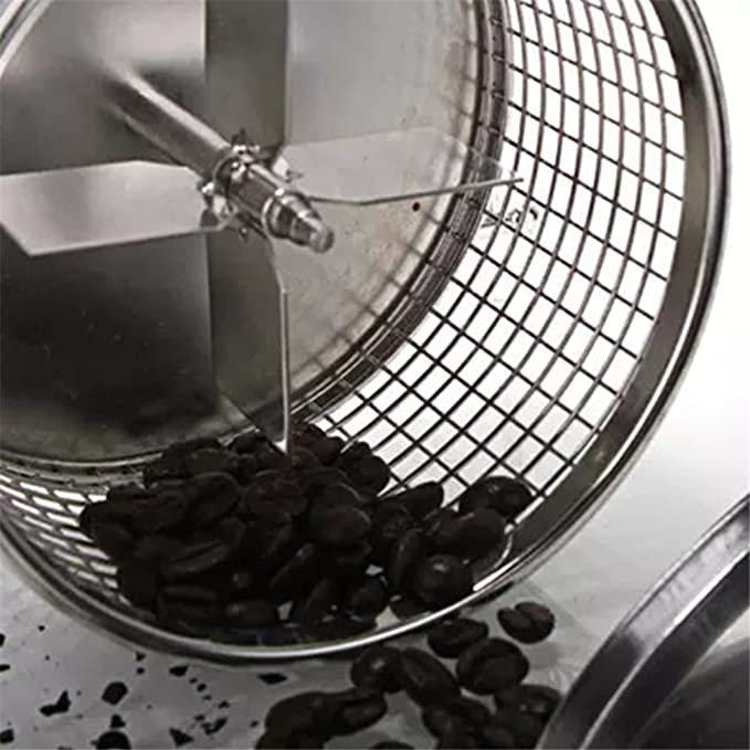 HUKOER Manual Roaster Coffee Roaster Hand Use Tostador de café con Quemador 300G Coffee Bean Capacity: Amazon.es: Hogar