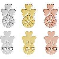 Earring Lifter - 3 Pairs of Adjustable Hypoallergenic Earring Lifts Back Clutches for Women Ear Lobe Support Patches…