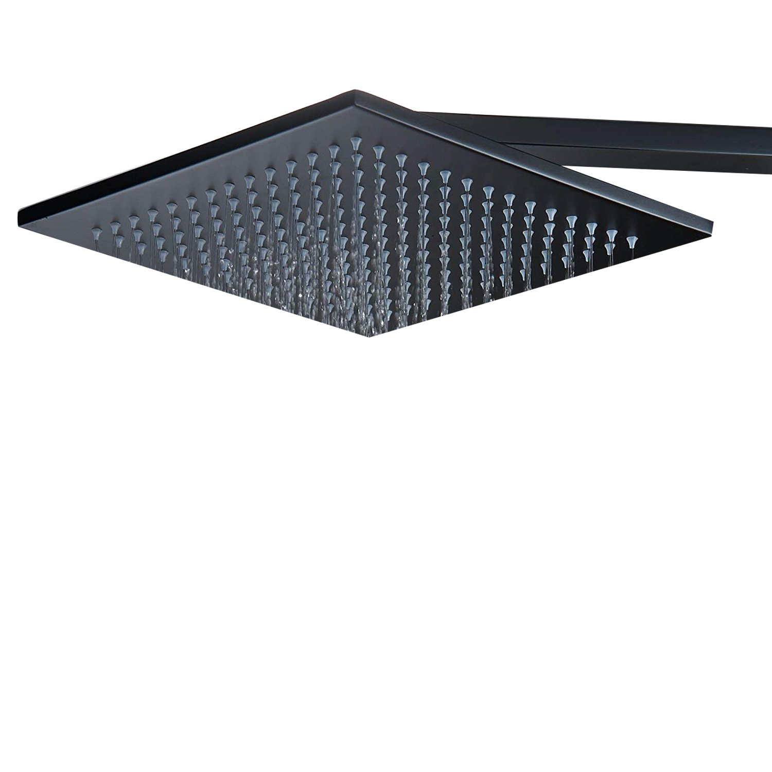 Aquafaucet Ceiling Mount Stainless Steel 10 Inches Square Rainfall Shower head Without Shower Arm Oil Rubbed Bronze
