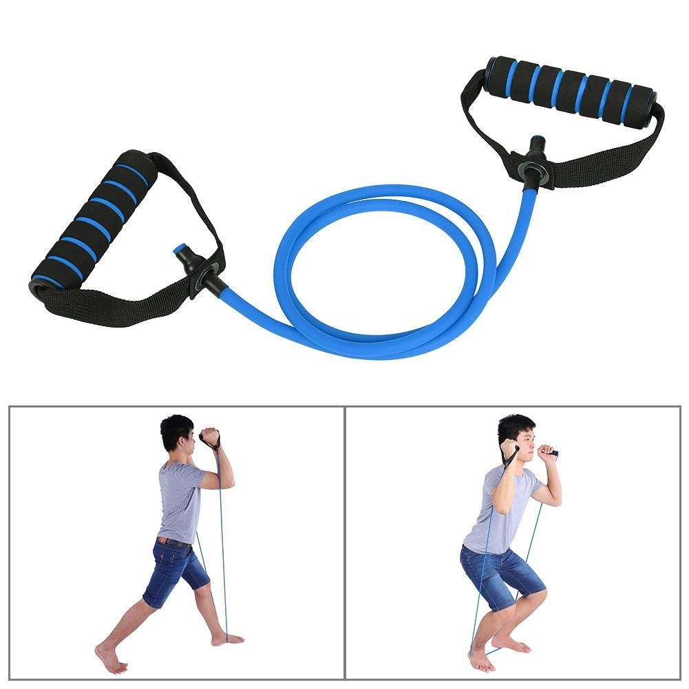 Yoga Rope Exercise Cord Tube Band Elastic Resistance Band Pull Rope 3 Colors Color : #1Red