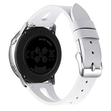 Mtozon Compatible with Galaxy Watch Active Bands/Galaxy Watch 42mm Band Leather, 20mm Replacement Slim Strap Wristbands Compatible for Samsung Galaxy ...