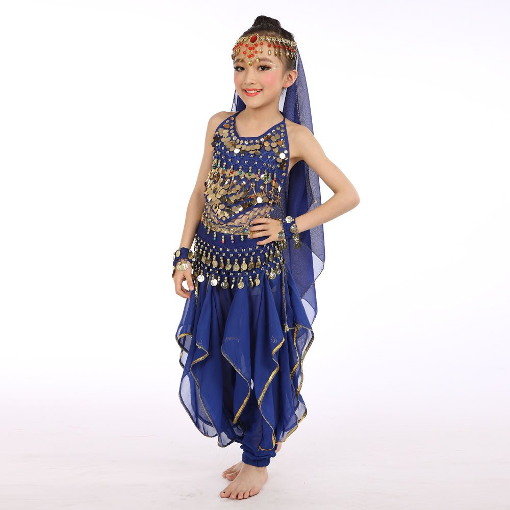 f8394f48e Lonshell Kids Girls Dance Costumes Belly Dance Performance Clothing ...