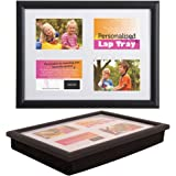 PACK OF 2 Lap Trays with a Bean Bag Base - Personalised Lap Tray with Photo Frames - Add Your Own Photos