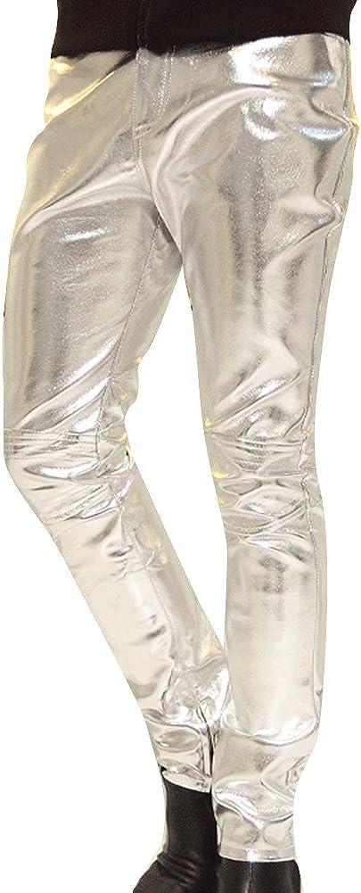 Kootk Hombres PU Cuero Pantalones Flaco Pantalones Apariencia Mojada Moto Pantalones Cuero Medias Ropa De Calle Cadera Salto Ropa Moda Ocio Pantalones M - 3XL