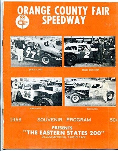 Orange County Fair Speedway Eastern States 200 Race Program 1968