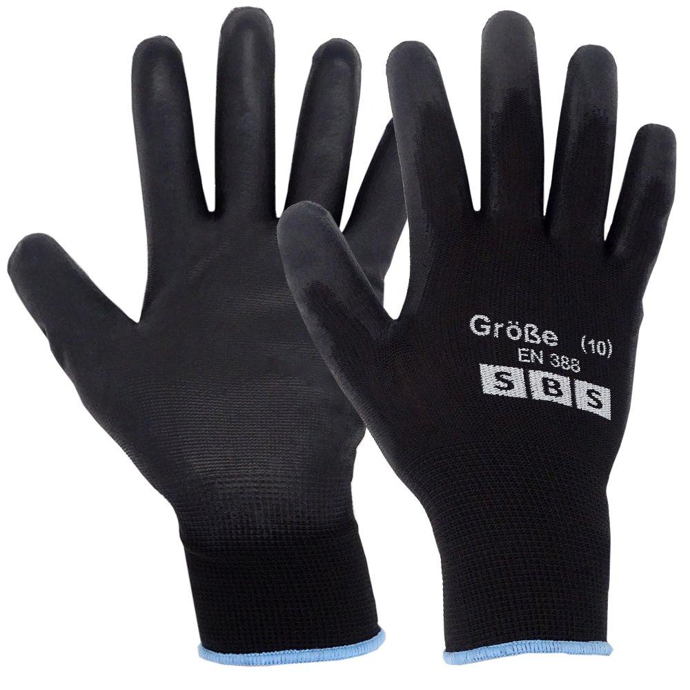 SBS Lot de 12/paires de gants de travail en nylon Taille 10