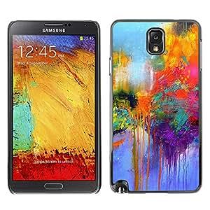 X-ray Impreso colorido protector duro espalda Funda piel de Shell para SAMSUNG Galaxy Note 3 III / N9000 / N9005 - Street Paris Colorful Painting Rain