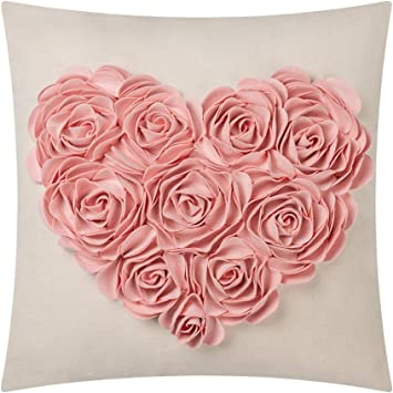 Easter Fun Hot Pink Chiffon Rose Handbag with Zipper Closure