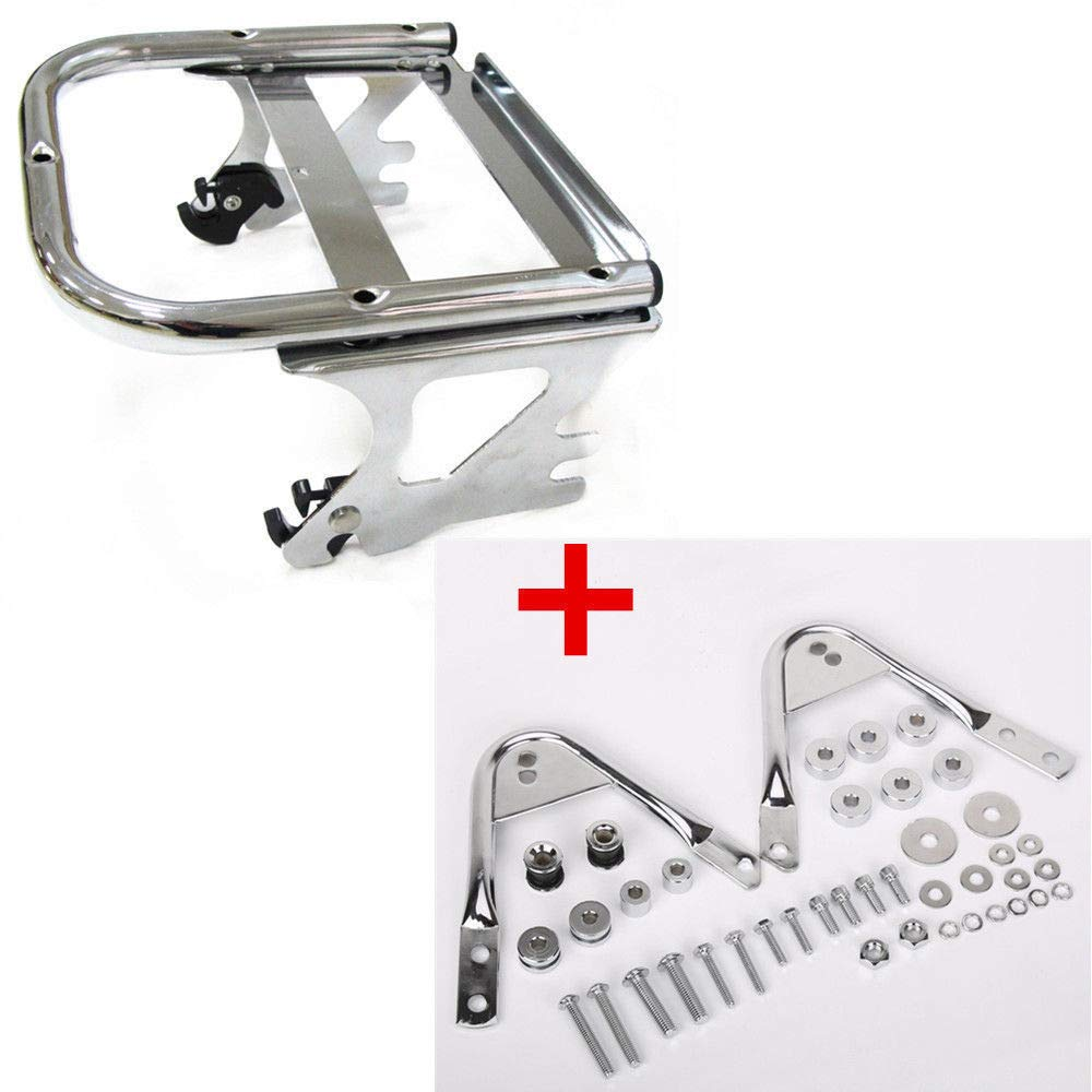 97-08 Detachable Two-up Tour Pack Mounting Luggage Rack W/Docking Hardware Kit ECOTRIC