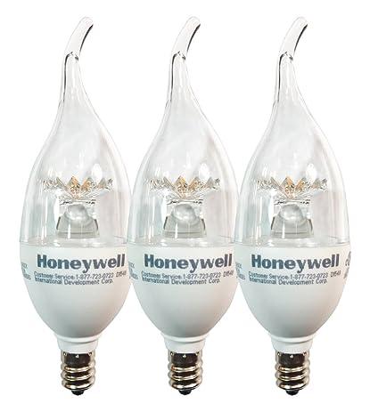 Honeywell B116027HB320 LED Chandelier Dimmable Light Bulbs - 60 Watt Equivalent - Soft White Light (  sc 1 st  Amazon.com & Honeywell B116027HB320 LED Chandelier Dimmable Light Bulbs - 60 ... azcodes.com