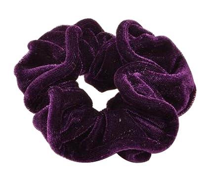 [Púrpura] Elegante sujetador de cola de caballo Flannel Elastics Corbatas de pelo Scrunchie