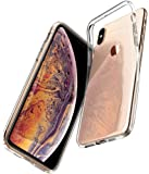Spigen [Liquid Crystal] iPhone Xs Max Case Cover with Flexible Clear TPU(Gel) Protection Designed for iPhone Xs Max (2018) 6.5 inch - Crystal Clear