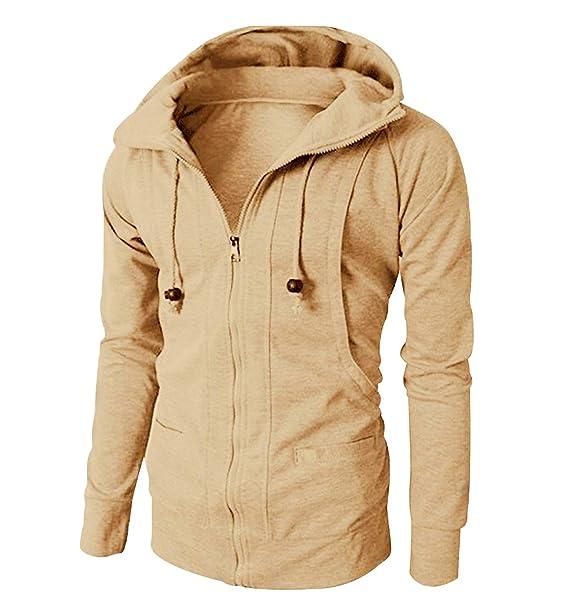 online store 45027 744bd Felpa Uomo Cappuccio Zip Felpe Uomo Tinta Unita Oversize ...