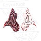 Handcrafted Print Blocks Hummingbird Shapes Wood