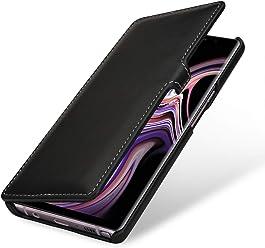 StilGut Book Type Case, Custodia per Samsung Galaxy Note 9 a Libro Booklet in Vera Pelle, Nero Nappa con Clip