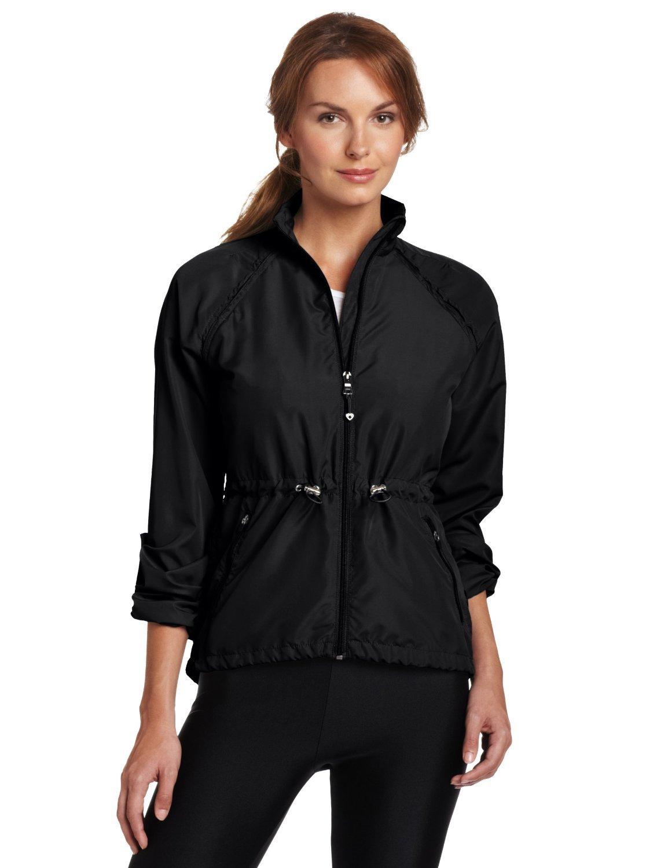Colosseum Women Breeze Breaker Warm up Jacket (Large, Black)