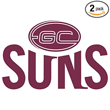 Angdest afl gold coast suns logo icon burgundy waterproof vinyl decal stickers for laptop