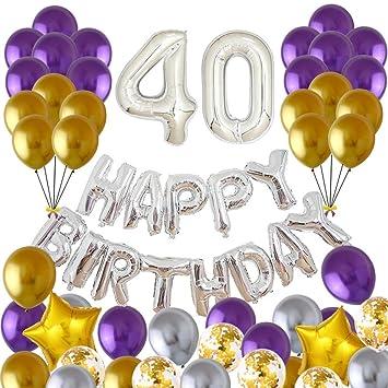 VVV Globos Cumpleaños Happy Birthday,Suministros y ...