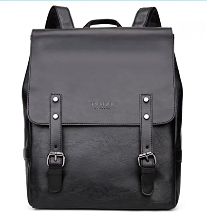 7dc09d490053 Amazon.com: UKXMNC Casual Leather Backpack With Magnetic Buckle ...