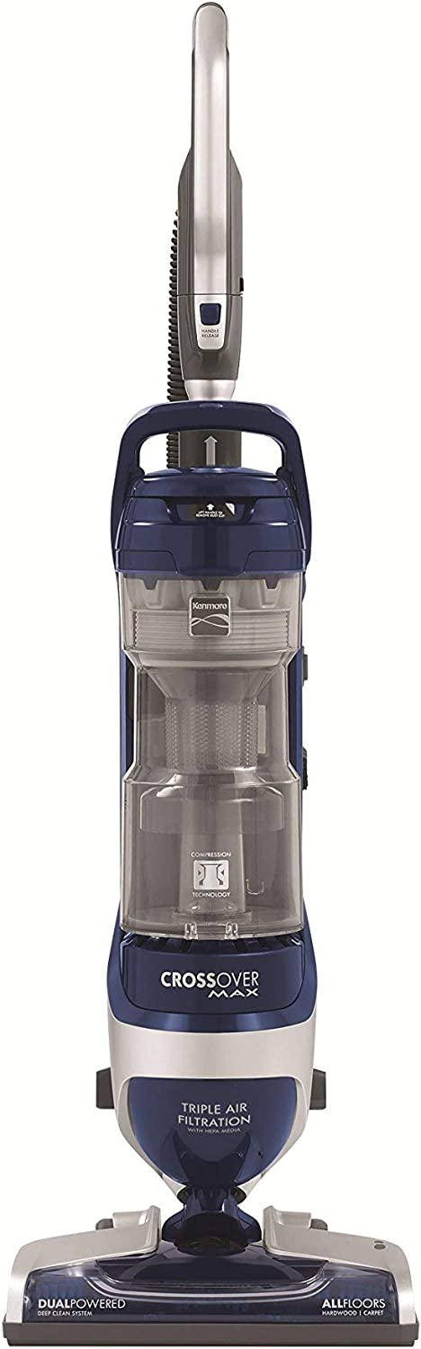 Pet Friendly Bagless Upright Vacuum Cleaner for Carpet and Hard Floors with Liftaway Canister and HEPA Filtration, 31220 (Renewed)