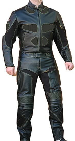 Traje de piel para moto de 2 piezas: Amazon.es: Coche y moto