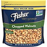 Cheap FISHER Chef's Naturals Chopped Walnuts, No Preservatives, Non-GMO, 32 oz