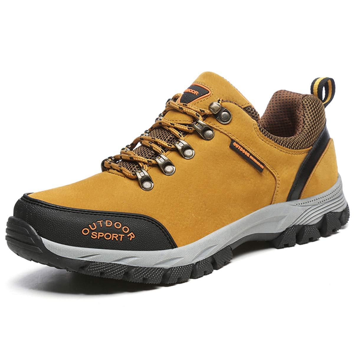 DANDANJIE Herren Wanderschuhe Turnschuhe Wasserdichte Schnürschuhe Laufschuhe Outdoor Trainer Schuhe für Herbst und Winter 2018