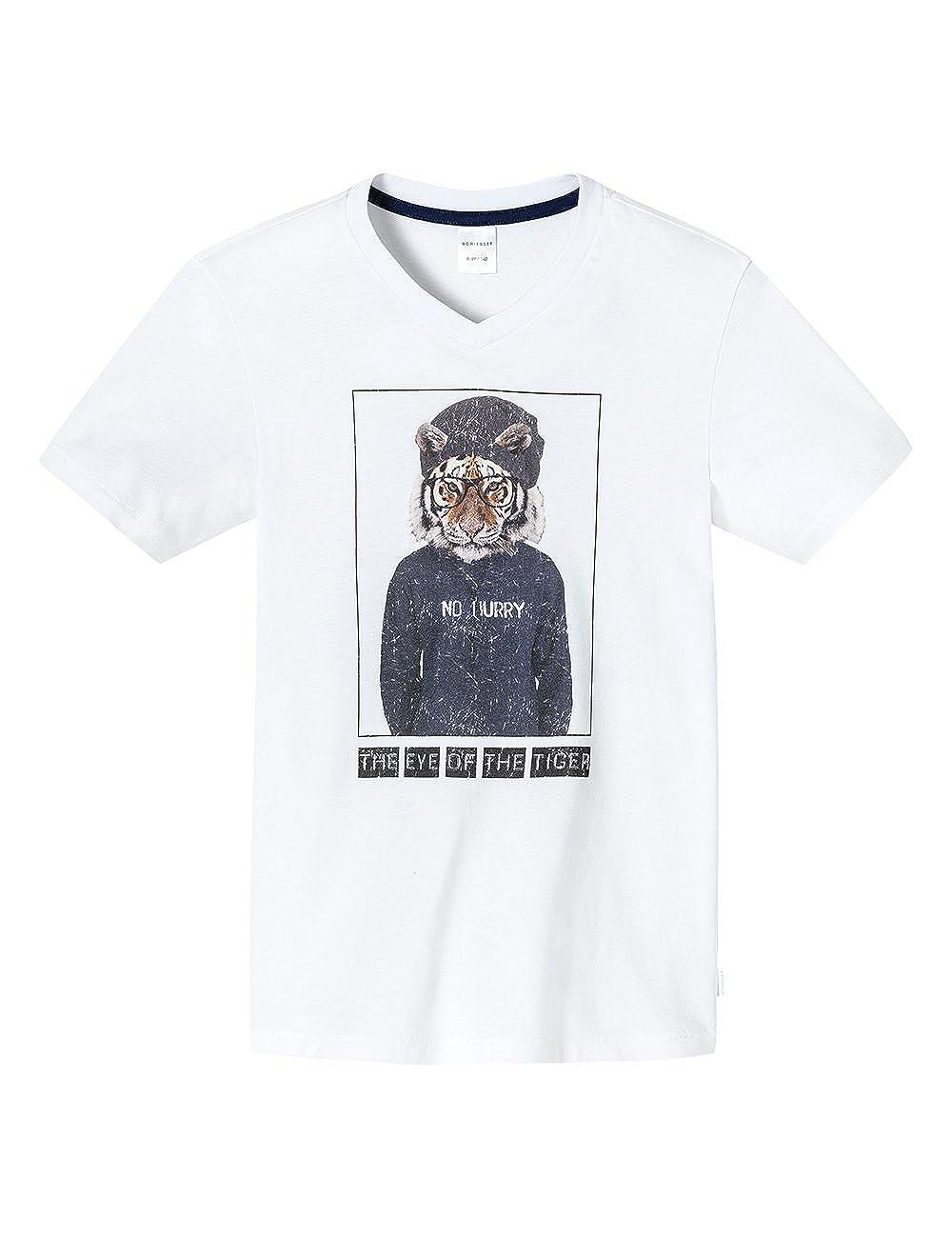 Schiesser Jungen Schlafanzugoberteil Shirt 1/2 Mix & Relax, V-Ausschnitt Schiesser AG 146026