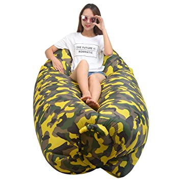inflatable lounger wind breezy pouch couch windbed cloud air chair sofa bed lazy bag been sleeping