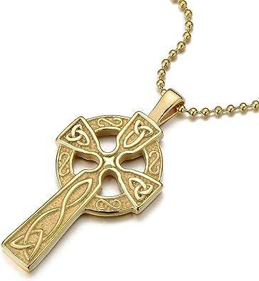 collier croix celte homme