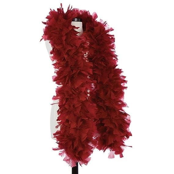 179bb4e6822 DreamAngels Burgundy 150 Gram Turkey Feather Boas: Amazon.co.uk: Clothing