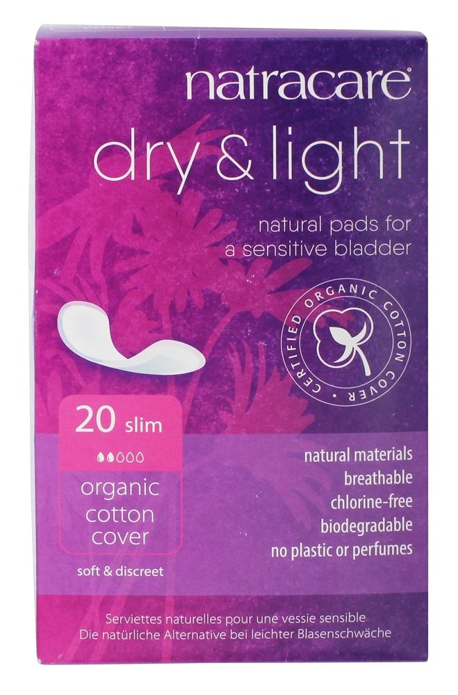 Natracare Dry and Light Incontinence Pad, 20-Count Boxes (Pack of 6)