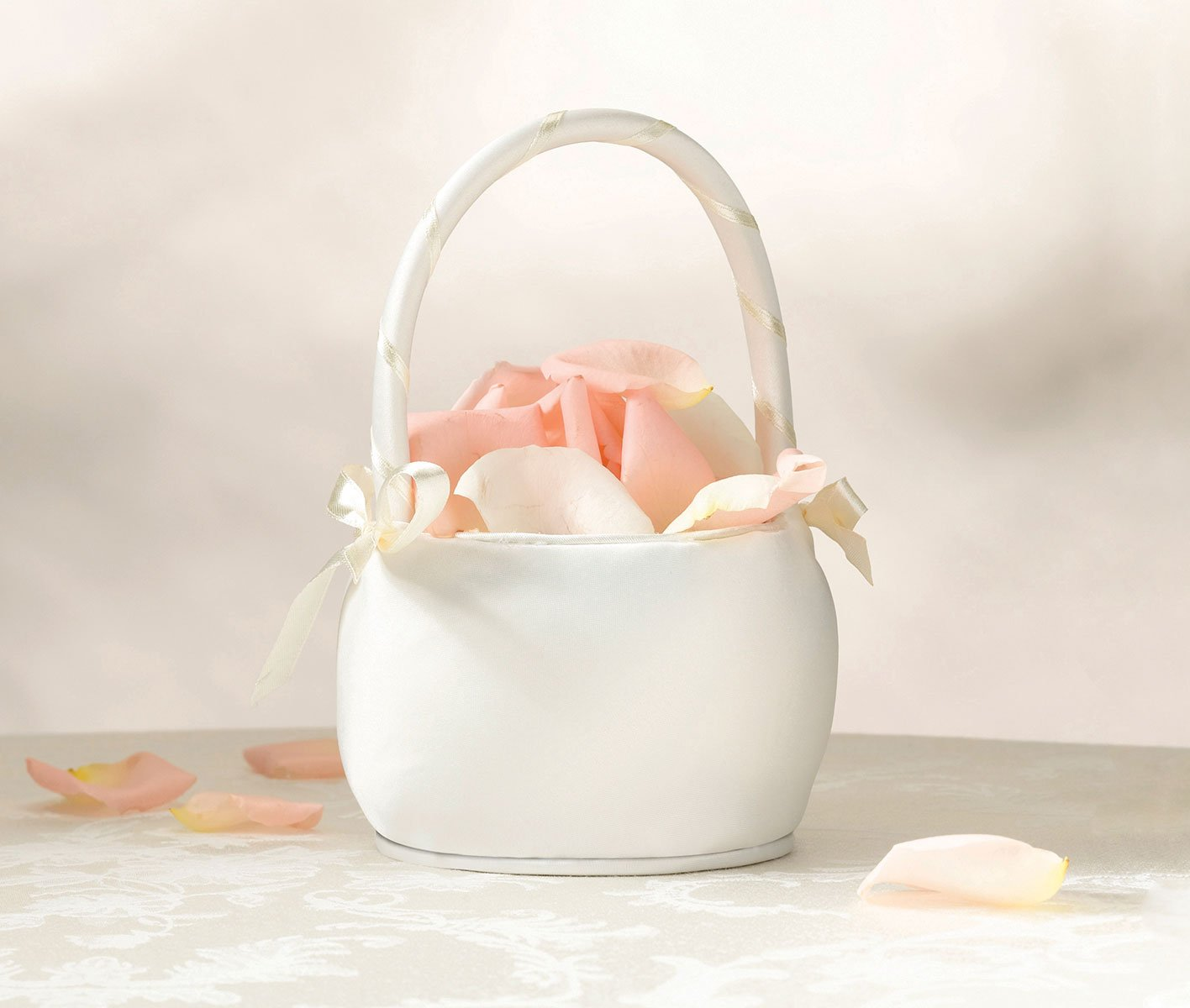 Amazon flower girl basket color ivory home kitchen izmirmasajfo