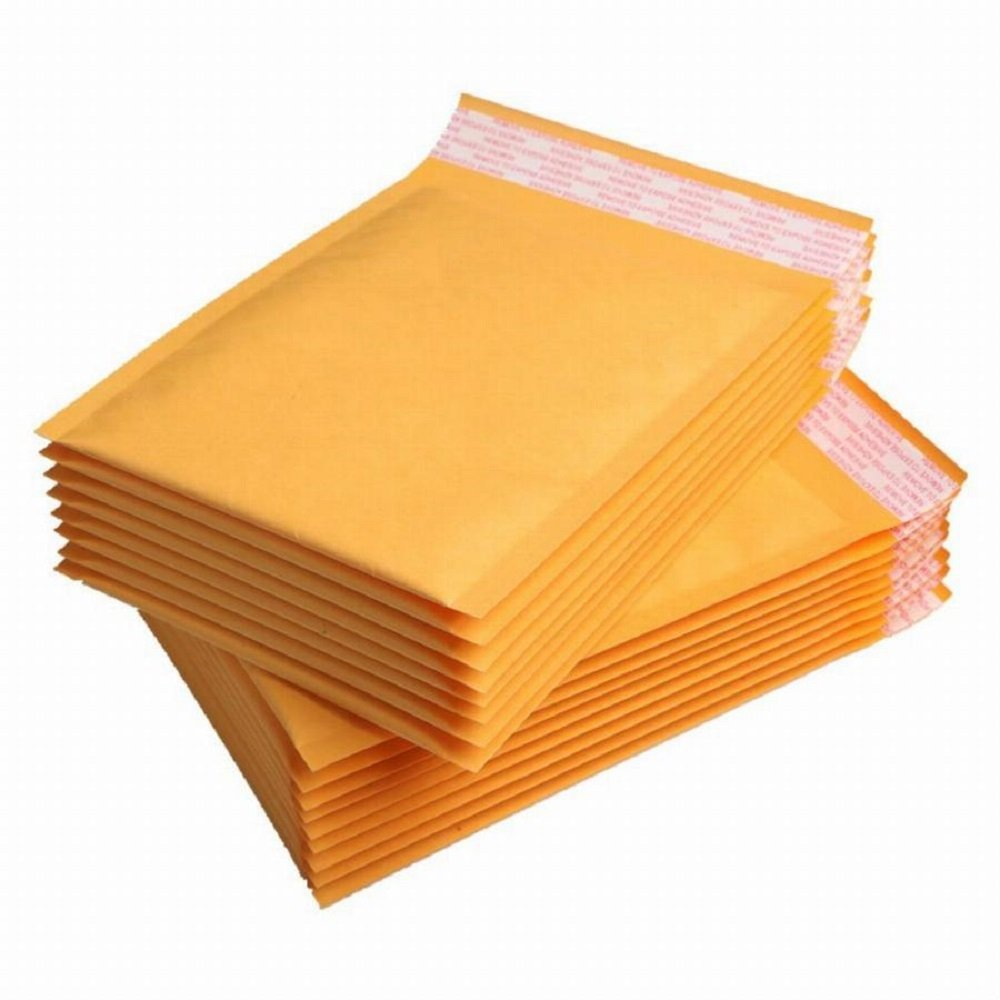 Kraft bubble mailers 12.5 x 18 Padded envelopes 12 1/2 x 18 by Amiff. Pack of 10 Kraft Paper cushion envelopes. Exterior size 13x19 (13 x 19). Peel & Seal. Mailing & shipping & packing & packaging.