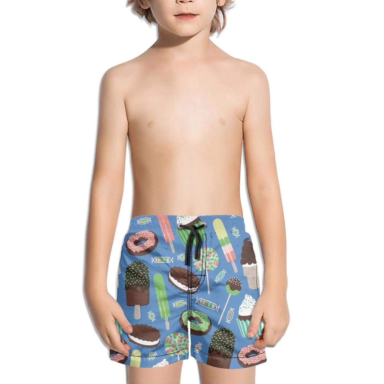 HONGMING Boys Swim Trunk Crazy Cow Quick Dry Beach Board Shorts