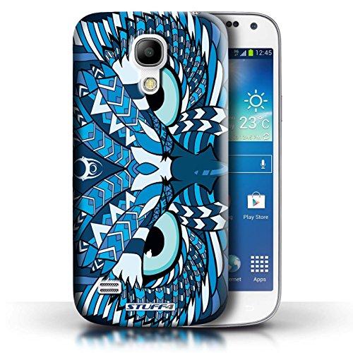 Etui / Coque pour Samsung Galaxy S4 Mini / Hibou-Bleu conception / Collection de Motif Animaux Aztec