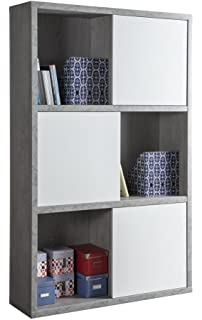 Libreria Bianca Con Ante In Vetro.Composad Colonna Libreria Dispensa Due Ante E Anta Vetro Colore