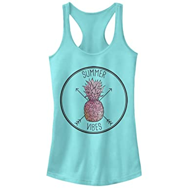 e3f5bc331578 Juniors  Pineapple Summer Vibes Racerback Tank Top at Amazon Women s ...