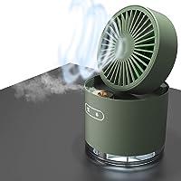 Cooling Misting Fan USB Desk Fan,4.5-Inch Rechargeable Small Desk Fan Foldable,2000mAh Battery 3 Speeds 2 Modes Mist…