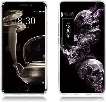 FUBAODA Custodia Meizu Pro 7 Plus Disegno Artistico con 3 Teschi ...