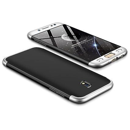 Funda Galaxy J3 2017/J330,Carcasa Samsung J3 Pro 2017,Funda 360 Grados Integral Para Ambas Caras+Cristal Templado,[360°]3 in 1Slim Fit Dactilares ...