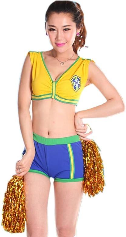 Disfraz Animadora para Equipo de Brasil para Mujer Talla L ...