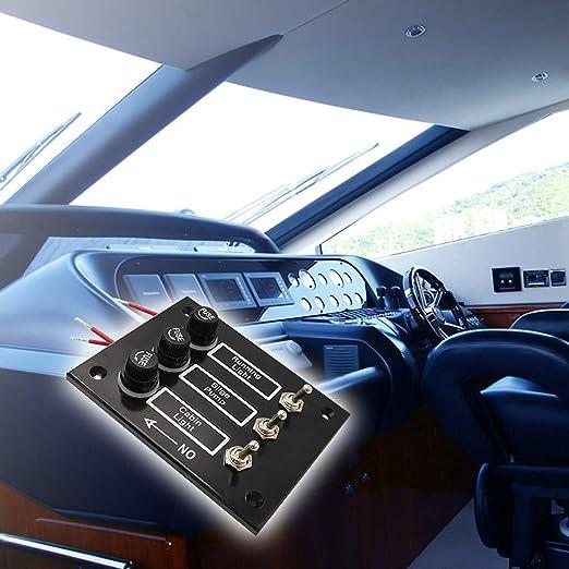 MagiDeal Panel de Interruptor Marino Fusionado de 3 Bandas para Caravanas Barcos 12V: Amazon.es: Deportes y aire libre