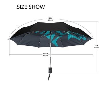 Bennigiry Shark - Paraguas de viaje compacto resistente al viento y al agua – Paraguas plegable