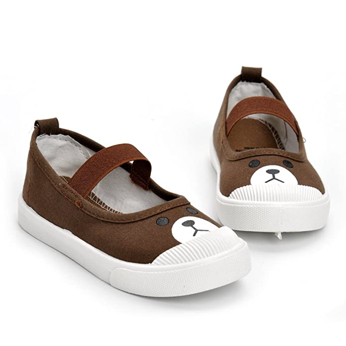 ESTAMICO Toddler Girls Casual Canvas Rubber Sole Sneakers Little Kids Shoes:  Amazon.co.uk: Shoes & Bags