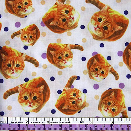 FunnyPicker 50x147Cm Patchwork Cotton Cat Fabric For Tissue Kids Bedding Textile For Sewing Tilda Doll Diy Handmade Materials