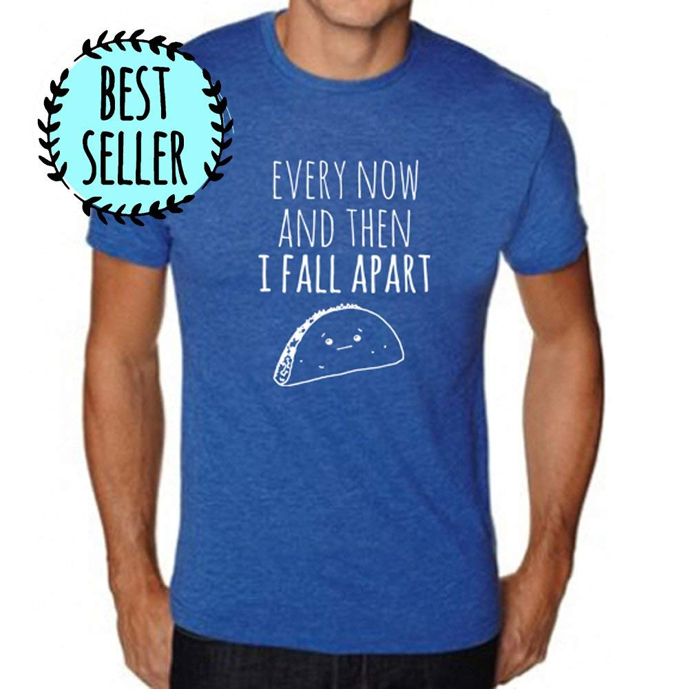 bf151dc274635 ... Men s Funny Graphic Taco Tee-Shirt in Royal Blue. This tri-blend  t-shirt is perhaps the softest shirt you ve ever felt. Sizes  S