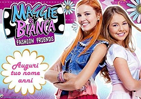 Cialda Per Torta Maggie E Bianca Da Personalizzare Maggie003